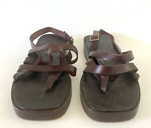 GUCCI Leather Sandals Men's 10.5 Brown Tom Ford