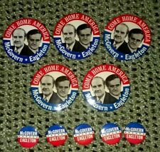 "Vintage McGovern Eagleton Come Home America  3 1//2/"" Political Button"