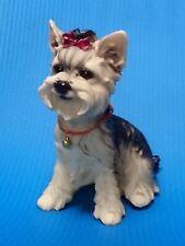 Dogs > YORKSHIRE Yorkie TERRIER  puppy dog sat resin figure figurine *s  Us un36