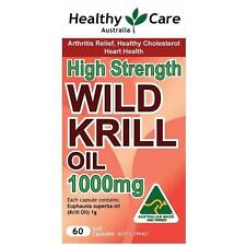 Healthy Care Wild Krill Oil 1000mg 60 Capsules for arthritis; cholesterol; heart