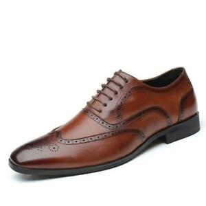 Casual Leather Mens Dress Formal Business Pointy Toe Work Wedding Oxfords Shoes