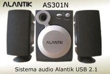 CASSE AUDIO PC 2.1 ALANTIK AS301N NERO WOOFER SPEAKER