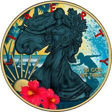 USA 2018 1$ Liberty Silver Eagle Hawaii 1oz Silver Gold Plated Coin