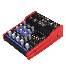 Profi 4 Kanal Audio Mischpult USB bluetooth Musik Stereo Mixer DJ Konsole Mixer
