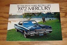 Original 1972 Mercury Full Line Sales Brochure 72 Cougar Comet Monterey