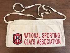 NSCA National Sporting Clays Ass. Cotton Tool Belt Nail Pouch Apron Bag (#J13)