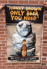 "Rare JW Dundees Honey Brown Bear Lager Beer Banner Poster Sign 3D 49"" x 30"" Bar"