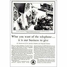 1930 Bell Telephone: What You Want of the Telephone Vintage Print Ad
