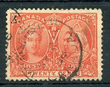 Weeda Canada 59 VF used 20c vermilion Jubilee, SON Winnipeg 1898 cancel CV $250