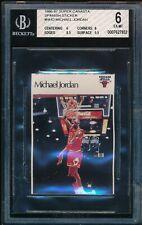 MICHAEL JORDAN 1986-87 SUPER CANASTA SPANISH STICKER #NNO Bulls RC BGS 6 EX-MINT