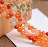 New 6/8/10/12mm Natural Agate Beads Gemstone Round Loose Bead Jewelry Making Diy