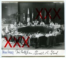 HELMUT SCHMIDT + GERALD FORD + JAMES CALLAGHAN - orig. Autogramm + Zertifikat