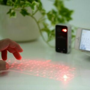 Bluetooth Laser Projection Virtual Keyboard for Smartphone PC Tablet Laptop