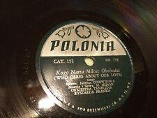 """78 RPM 10"""" USA Polonia 153 Jadwiga Czerwińska"""