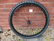 """Front MTB 26"""" wheels black axle excellent condition without tyre"""