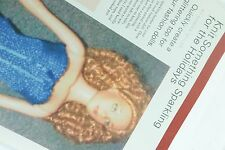 "1 Pg Article Knit A Sparkling Top 16"" 18"" Fashion Dolls 05 Doll Reader Magazine"