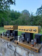 2 Heathkit W4-am vintage Mono amplifiers w/2 Wa-P2 preamps.P&P, Matching Pairs!