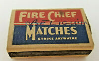 Vintage Fire Chief Matches Made in USA Pacific Match Co Matchbox