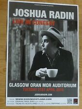 Joshua Radin - Glasgow april 2015 tour concert gig poster