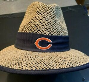 Chicago Bears NFL New Era Straw  hat XL never worn!