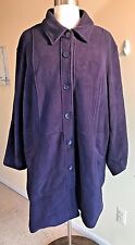 ROAMAN'S Plus Size 34W Navy Blue Fleece Lined Winter Coat Jacket Tiered Back