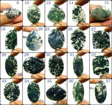 NATURAL SEAWEED MOSS AGATE CABOCHON MIX SHAPE LOOSE GEMSTONE FOR JEWELRY MOS-C