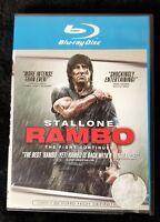 Video DVD - RAMBO - Blu-Ray - Sylvester Stallone - LIKE NEW (LN) WORLDWIDE