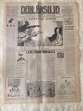 Don Basilio n.8 - 19 febbraio 1950 settimanale satirico d'opposizione