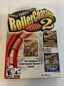 BRAND NEW PC Game - RollerCoaster Tycoon 2 Triple Thrill Pack