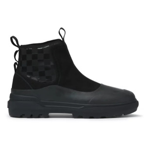 Vans Pull-On Colfax Black/Black Suede Boots Rubber-Coated Waterproof for Women