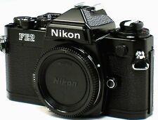 ** MINT L/N ** Nikon FE2 35mm SLR Black Camera Body W/ Titanium Shutter MINT