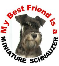 2 Miniature Schnauzer MBF Car Stickers By Starprint - Auto combined postage