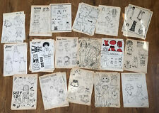 Lot Of 39 Paper Dolls Uncut Black And White From Doll World Magazine, 1979-83