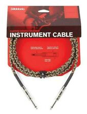 D'Addario Braided Instrument Cable Camouflage 15 feet PW-BG-15CF
