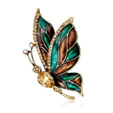 Animal Crystal Brooch Pin Party Fashion Wedding Jewelry Vintage Gold Butterfly