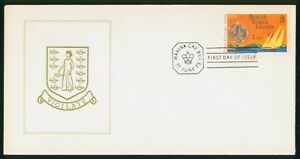 MayfairStamps British Virgin Islands First Coinage Issue 1973 Cover wwp61539