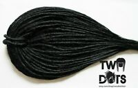 Jet Black Synthetic Dreads, 20 Inches, SE & DE Dreads, Thin, Smooth, Realistic.