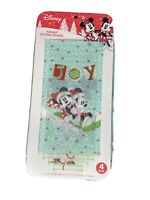 Disney Mickey & Minnie Mouse Christmas Sled Flexible Cutting Boards 4 pack NEW