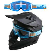 ONeal B2 Goggle Blau Moto Cross Bille Motorrad DH Mountainbike Enduro Freeride