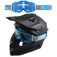 ONeal B2 RL Goggle Blau klar Crossbrille Motocross Motorrad DH MX Enduro Brille