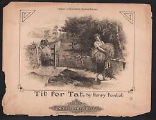 Tit For Tat 1890 Large Format Sheet Music