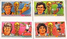 GUINEA 1986 1134-37 B 1017-1020 IMPERF Soccer World Cup Mexico Fußball WM MNH