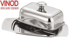 Stainless Steel Retro Butter Dish with Stainless Steel Lid