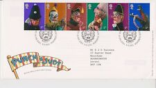 GB ROYAL MAIL FDC FIRST DAY COVER 2001 PUNCH & JUDY STAMP SET TALLENTS HOUSE PMK