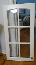 """Thermofoil French Glass Cabinet Door Preowned 18.5""""wide 35.5"""" high"""