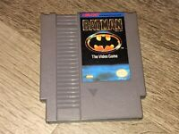 Batman The Video Game Nintendo Nes Cleaned & Tested Authentic