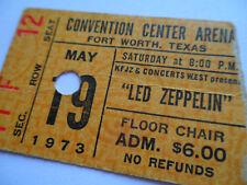 LED ZEPPELIN Original__1973__CONCERT TICKET STUB__Fort Worth, TX__EX