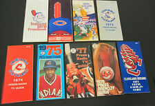 1970's CLEVELAND INDIANS MEDIA GUIDE Press Book Yearbook Baseball Program LOT 9
