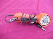 BELL ROTARY DIAL ORANGE BUTT SET LINEMAN TELEPHONE LINE TESTER VINTAGE ANTIQUE