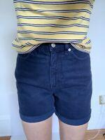 VTG Route 66 Women's Dark Blue Mom Denim Shorts Size 5/6 Relaxed Fit High Waist